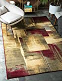 Cheap Unique Loom Barista Collection Modern Abstract Gradient Multi Area Rug (9′ x 12′)