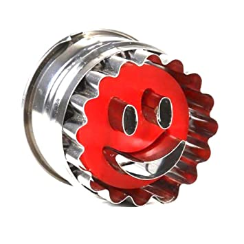 7778b33911 mengyi Emporte pièce Rond pour gâteaux sablés Smiley Sourire Rouge  pâtisserie noël (Rouge)
