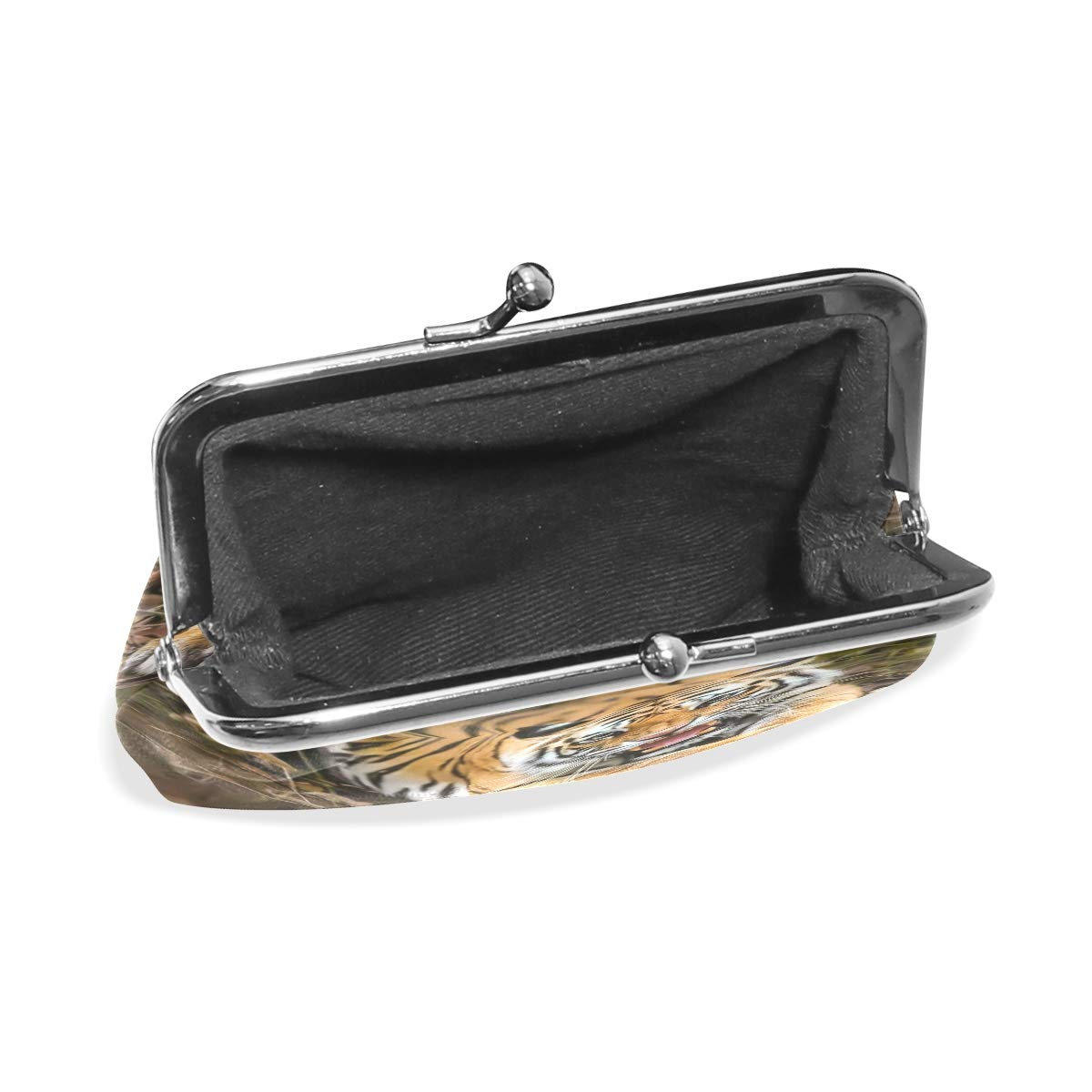 CLveg Coin Purse Card Package Coin Leather for Women Printing Series Angry Tiger