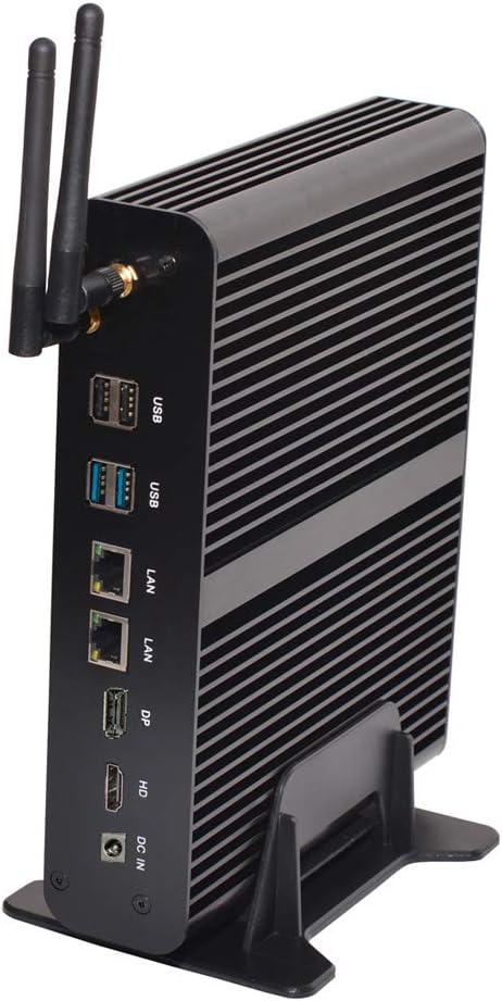 Kingdel Fanless Mini Computer, Intel i7-6567U Dual Cores CPU, Base Frequency 3.3GHz, 16GB DDR4 RAM, 512GB SSD, 4096x2304@60Hz, 4xUSB3.0 2xLAN HD&DP, SD Card Reader | Amazon