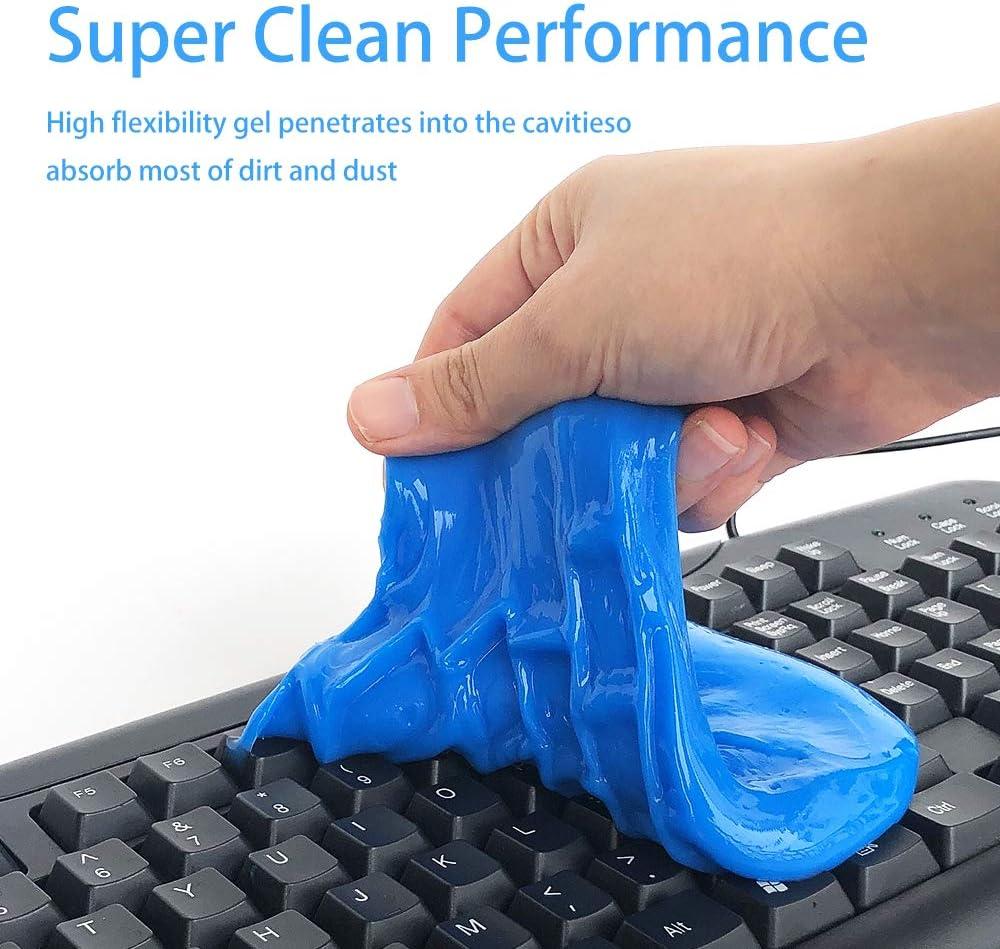 Super Clean Keyboard Slime Staubreiniger Gelb wiederverwendbarer Magic Keyboard Dust Soft Mud Universal Gel Dust Slime Cleaner