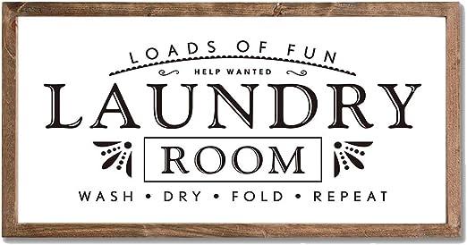 Amazon.com: Letreros de lavandería para decoración del hogar ...