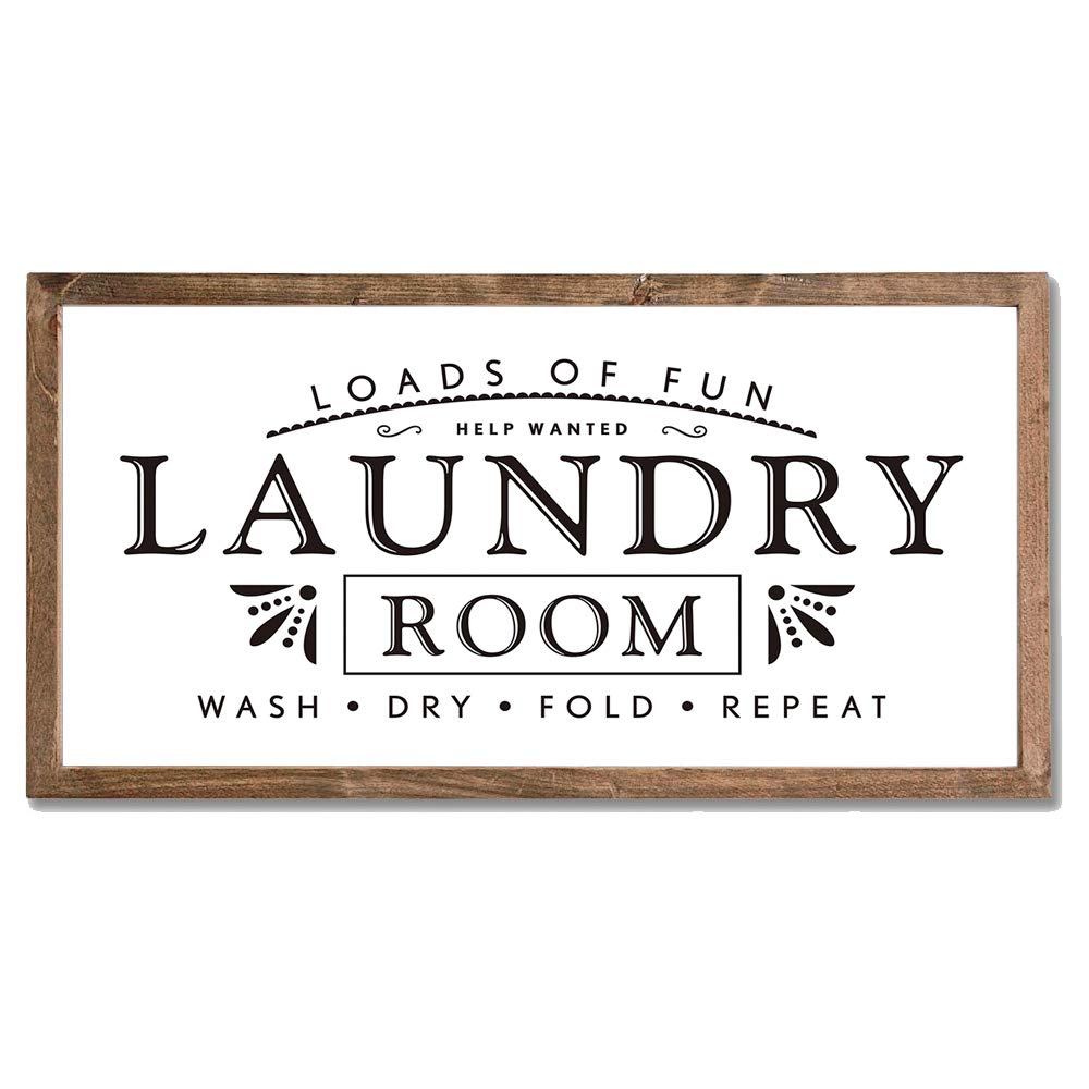 Laundry Signs for Home Decor Loads of Fun Laundry Room Wooden Sign
