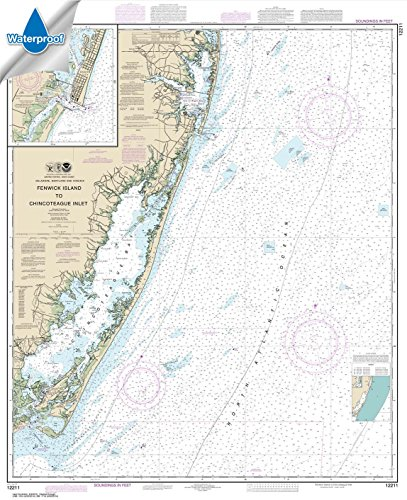 - Paradise Cay Publications NOAA Chart 12211: Fenwick Island to Chincoteague Inlet; Ocean City Inlet 41.9 x 34.1 (WATERPROOF)