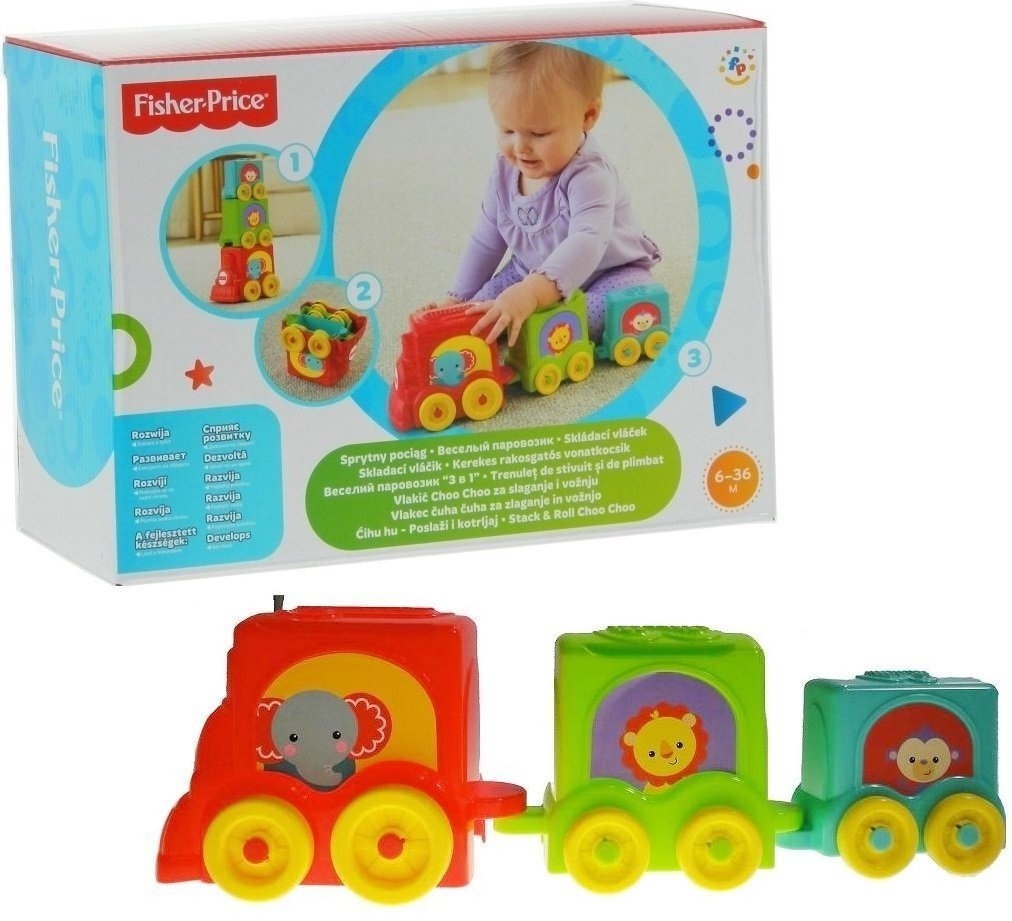 Amazon.com: Fisher-Price Pila y rollo Choo Choo Stacker: Baby