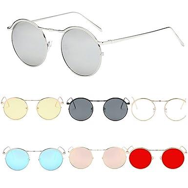 f53435a1eda Clearance Sale!OverDose Unisex Men Women Round Shades Acetate Frame UV Glasses  Sunglasses( 2)  Amazon.co.uk  Clothing