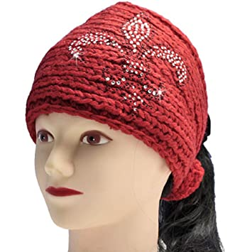 Amazon Fleur De Lis Crochet Knit Head Wrap Winter Headband Ear
