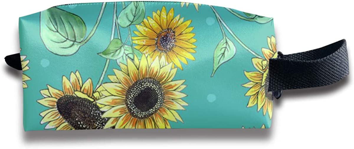 Novelty Colorful Pretty Sunflower Portable Evening Bags Clutch Pouch Purse Handbags Cell Phone Wrist Handbags For Womens