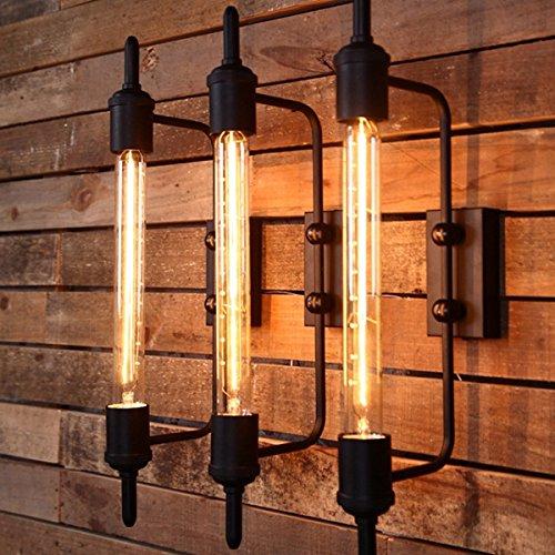 HTAIYN Rust Farbe American Landhausstil rustikalen Vintage Eisen Wandleuchte Leuchten Dekoration Lampe