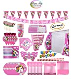 paper horse mask - Family Deals Store Unicorn Party Pack Decorations Supplies 126 Piece Children Rainbow Butterfly Mask Name Tag Table Cloth Happy Birthday Hanging Banner Cupcake Topper Cutlery Napkins Balloons