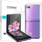(3 Sets) Orzero Compatible for Samsung Galaxy Z Flip, Samsung Galaxy Z Flip 5G (Premium Quality) Edge to Edge (Full…