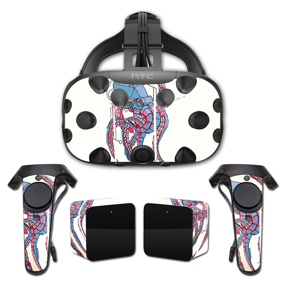 MightySkins Skin For HTC Vive Full Coverage - Robo Squid   Protective, Durable, and Unique Vinyl Decal wrap cover   Easy To Apply, Remove, and Change Styles   Made in the USA