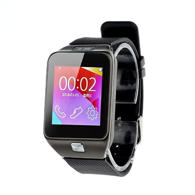Bocideal Bluetooth 4.0 V8 inteligente reloj de la cámara a distancia SmartWatch para Samsung teléfono Android Negro: Amazon.es: Electrónica