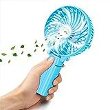 VersionTech usb扇風機 折り畳み式 携帯ファン 手持ち/卓上置き両用 usb充電/電池給電 角度調整と傘の中に装着可能 強風 6枚羽根 風量3段階調節 可愛いミニ扇風機(グリーン)