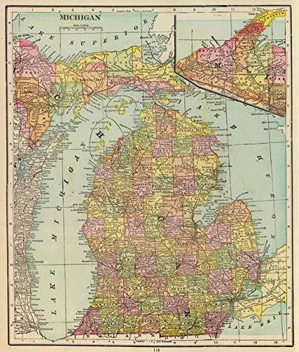 Michigan Antique Map - 1