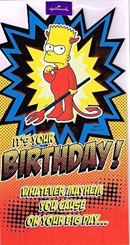 Amazon The Simpsons Bart Simpson Devil Its Your Birthday