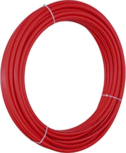 SharkBite U960R100 PERT Pipe, 1/2 Inch, Red