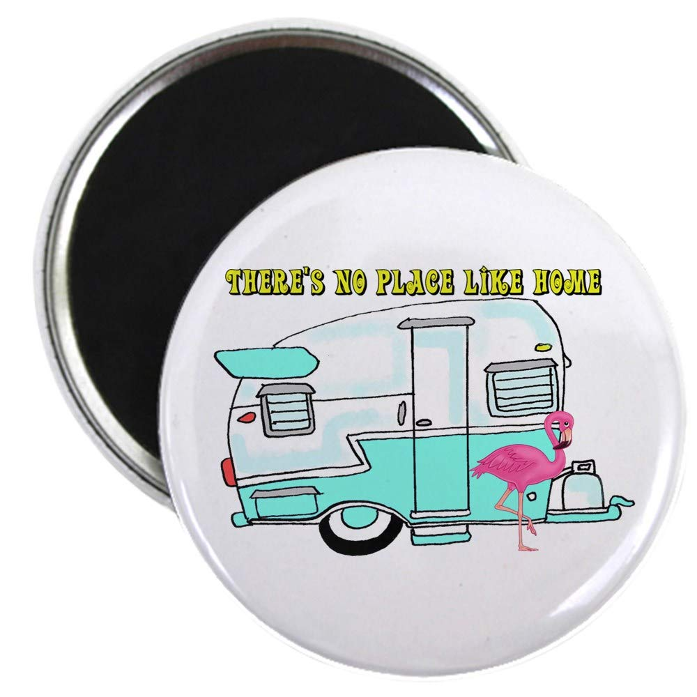 """CafePress There's No Place Like Home Magnets 2.25"""" Round Magnet, Refrigerator Magnet, Button Magnet Style"""