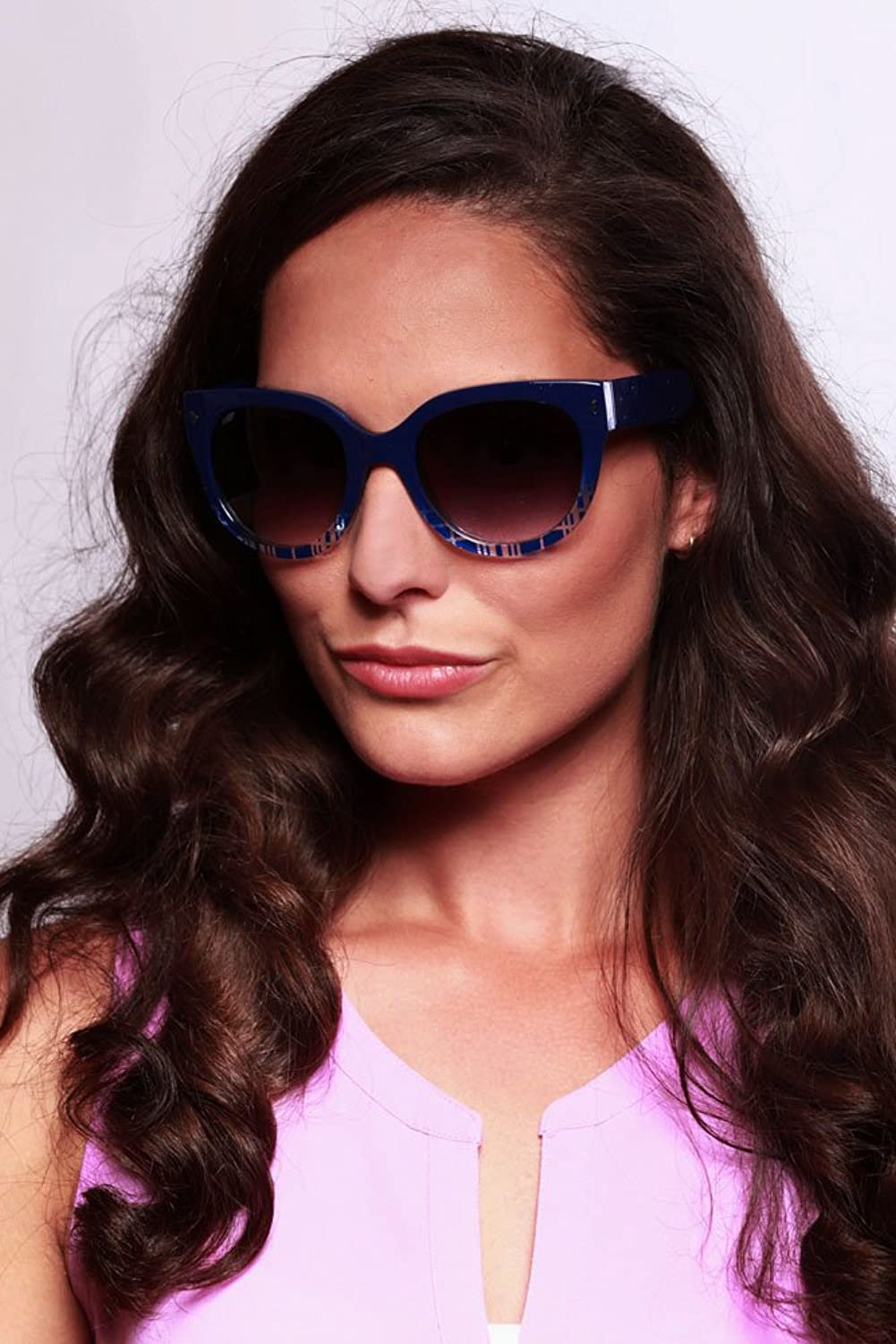 """Edgewater"" Wayfarer Cateye Sunglasses with Patterned Frames for Stylish Women"