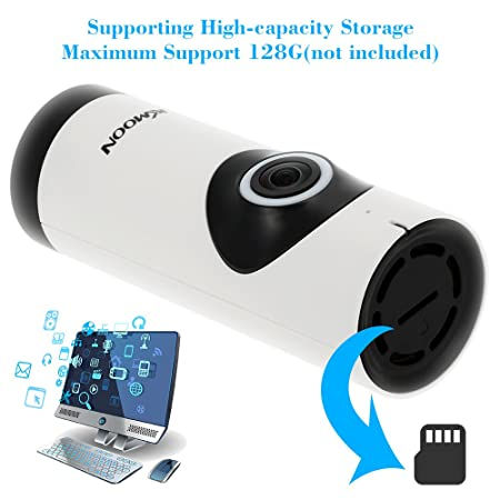 KKmoon Mimi Cámara IP Panorámico (720P HD, Wifi, Vigilancia Video, IR-CUT Visión Nocturna, 2 Vías Audio, 1/3 Lente Ojos de Vez 360 Grados, Soporta Tarjeta ...