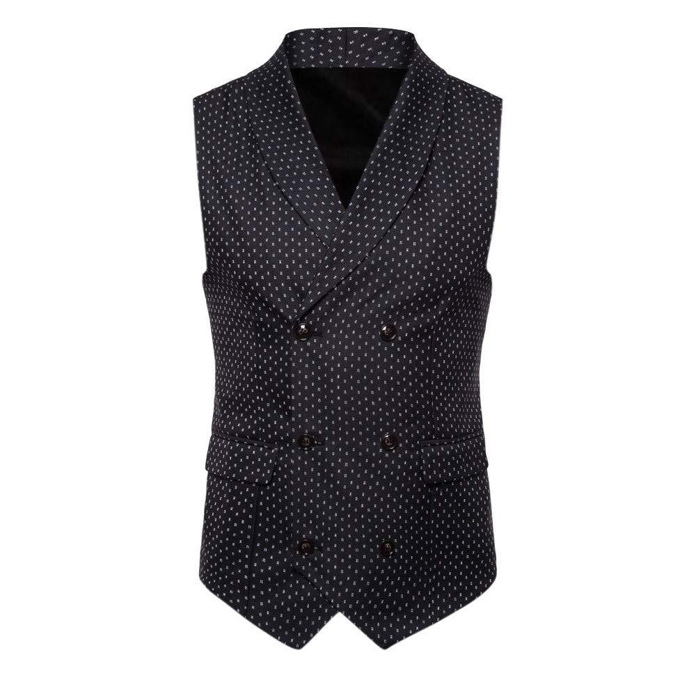 SMALLE ◕‿◕ Clearance,Men Speckle Button Casual Print Sleeveless Jacket Coat British Suit Vest Blouse
