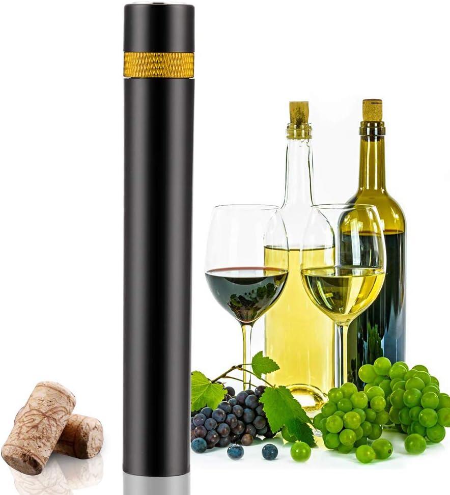 SAMBOO Sacacorchos de Presión de Aire Sacacorchos Aguja Abrebotellas de Vino Abrelatas Profesional Abrebotellas Abridor Botellas Manual Mini ...