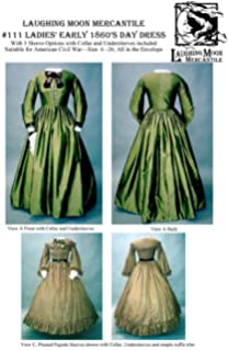 f955d2d9781a9 ... Civil War Era Ball Gown Dress · $22.95 · Sewing Pattern Laughing Moon  111 - LM 111: Ladies' Early 1860's Day Dress