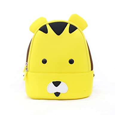 705ef7ce1d MOMMORE Toddler Kids Backpack Cute Cartoon Tiger Shape Yellow