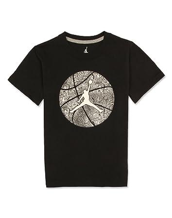 b7f4d4c3 Nike Jordan Jumpman Boys Black Tee Shirt ... (L): Amazon.co.uk ...
