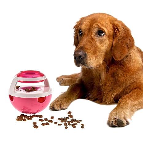 Comida para perros Bola Enfoque Vaso de mascotas Juguete interactivo Dispensador Tratar dispensar Perros de juguete ...
