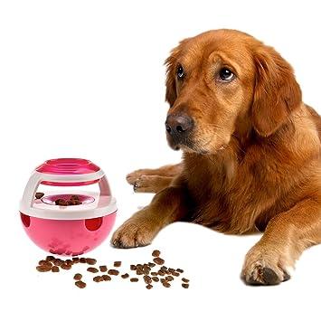 Comida para perros Bola Enfoque Vaso de mascotas Juguete interactivo Dispensador Tratar dispensar Perros de juguete