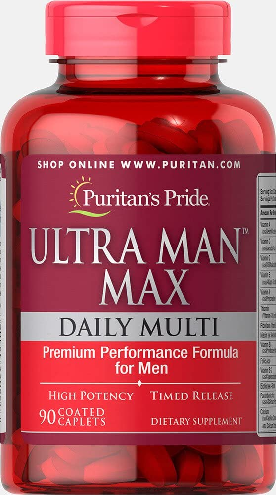 Puritans Pride Ultra Man Max, 90 Count