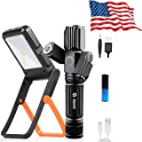 Zoomable 500m Rechargeable Flashlight Waterproof & Solar+USB Powered Portable Solar Light 360°Adjustable| Rechargeable…
