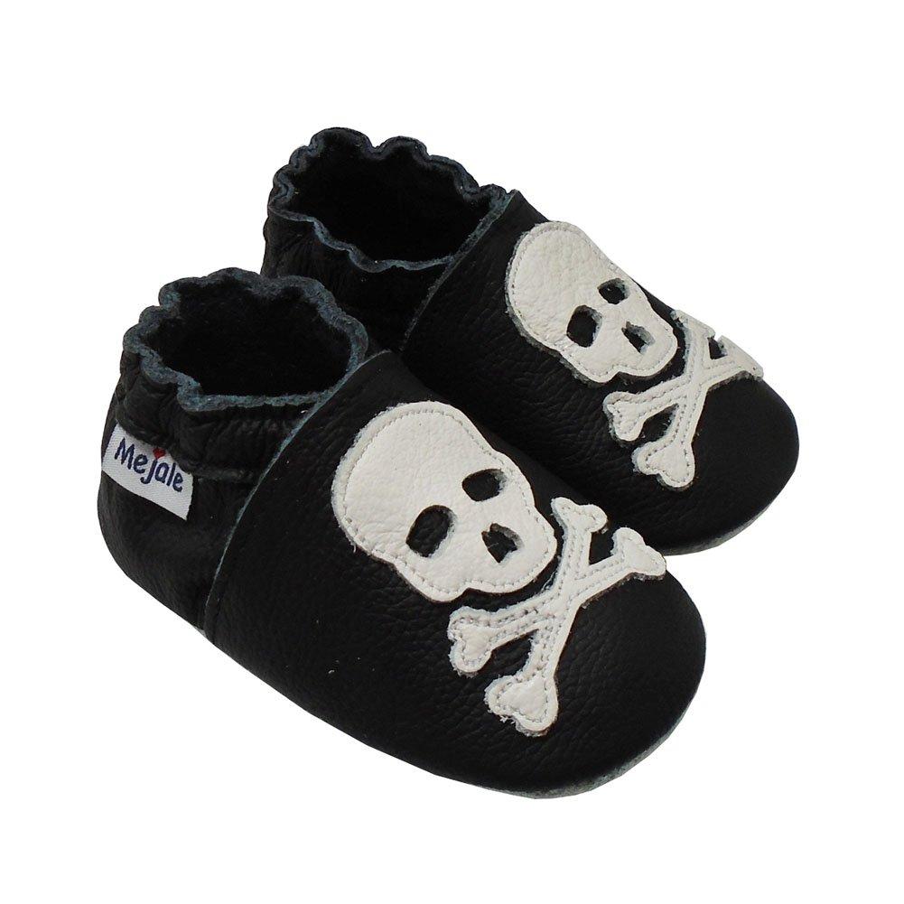 /Zapatos para beb/é tipo mocas/ín negro schwarz Sch/ädel Talla:6-12 Monate//5.1 zoll mejale Premium suave piel unidad lernschuhe patucos/