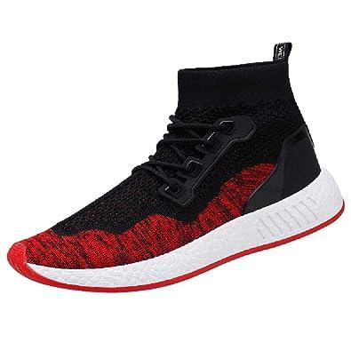 6e2302abb68e39 ELECTRI Hommes Mode Grande Taille Semelle Souple Haute Aide Sneaker de  Marche Occasionnel Chaussures de Course