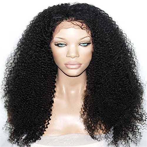 Passion-New-Arrivel-Synthetic-Lace-Front-Wig-Heat-Resistant-Kinky-Curly-Black-Highlights-Heavy-Density-Wig