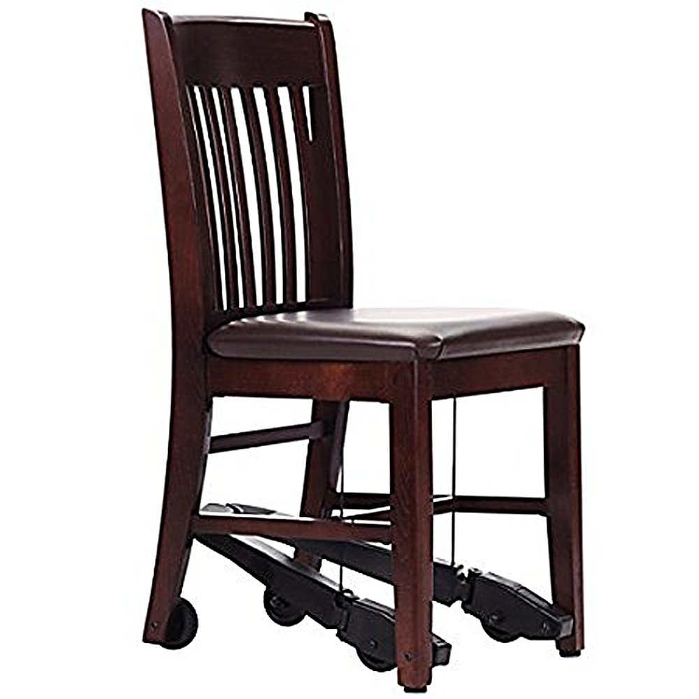 Royal EZ Series Assistive Chair - Mahogany Wood with 18-in Vinyl Seat