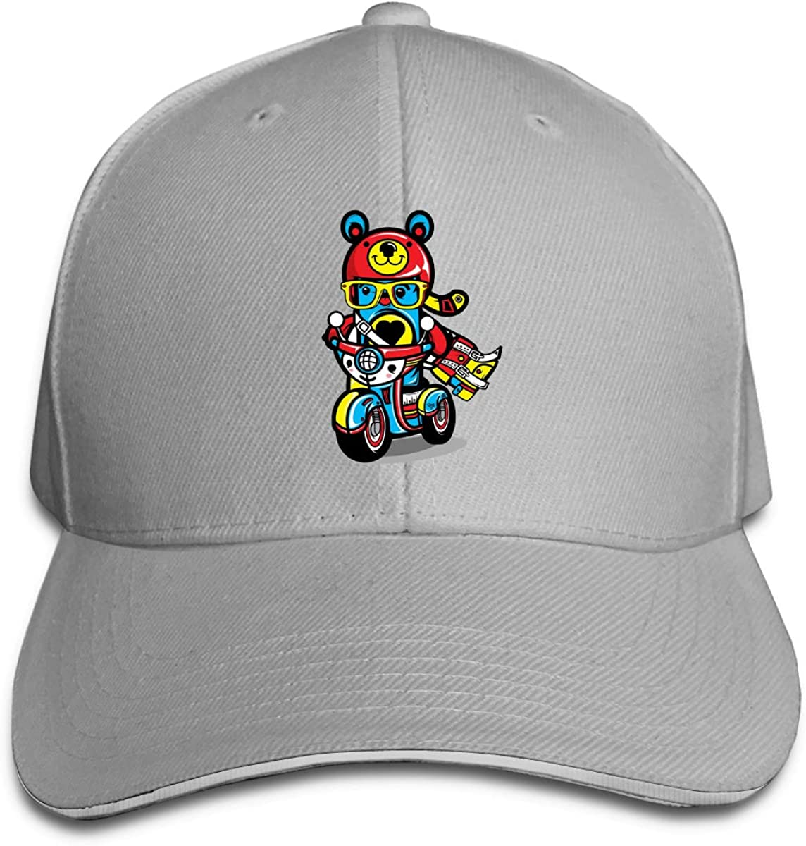 ChocoToy Classic Adjustable Cotton Baseball Caps Trucker Driver Hat Outdoor Cap Gray