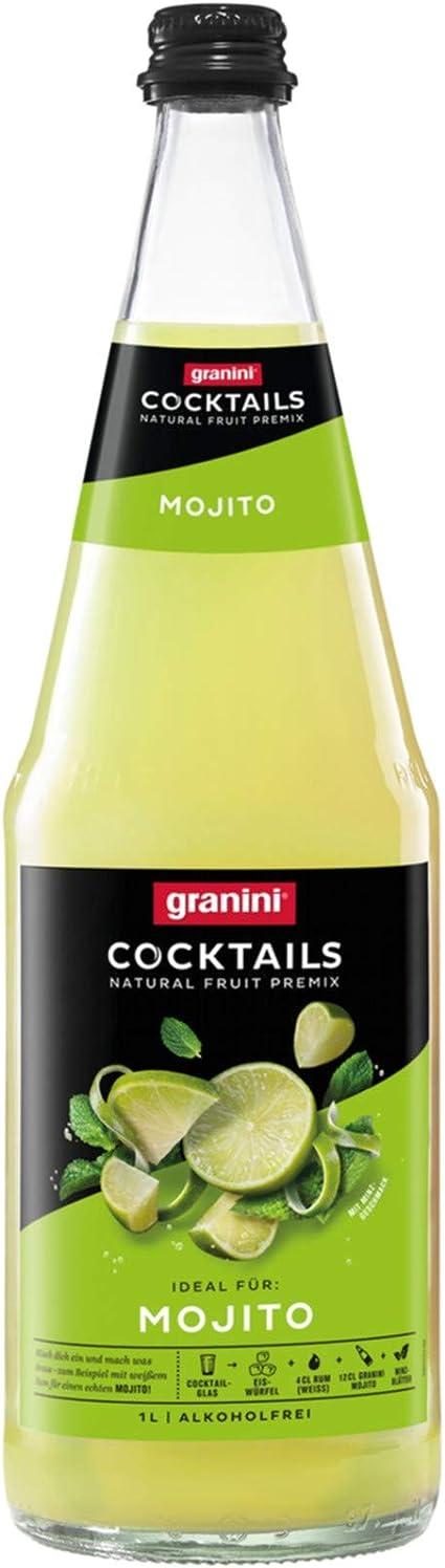 1 x 6 L Cóctel Granini Mojito Botellas de vidrio de 1 litro ...