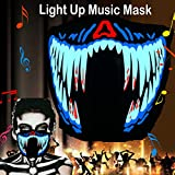 flashingworld Music Led Party Mask with Sound Active for Dancing,Riding,Skating,Party and Any Festival (Blood Teeth-mask)