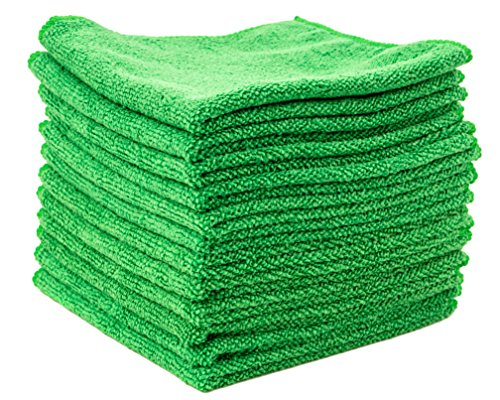 Dry Rite Best Magic Microfiber Cloth – Professional Series Cleaning Towels for Fine Auto Finishes, Interior, Chrome, Kitchen, Bath, TV, Glass- Non Scratching, Streak Free, Use Wet or Dry – 12″ x 12″