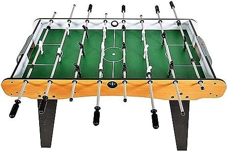 JJSFJH Tabla de Foosball Table Top Football futbolín de Mesa Juegos for niños, tamaño Mini Juego de fútbol Conjunto con Marco de Madera (4 pies de fútbol de Mesa): Amazon.es: Deportes y