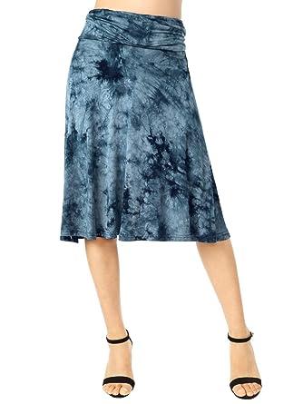 Señoras Falda De Verano Moda Vintage Elegante Verano Chica Mode De ...