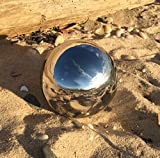 """The Crosby Street Stainless Steel Gazing Ball for Homes and Gardens, 5 1/4"""" Diameter, Mirror Globe, By Whole House Worlds ..."""