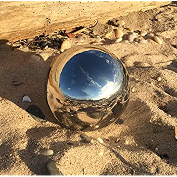 "The Crosby Street Stainless Steel Gazing Ball for Homes and Gardens, 5 1/4"" Diameter, Mirror Globe, By Whole House Worlds ?"""