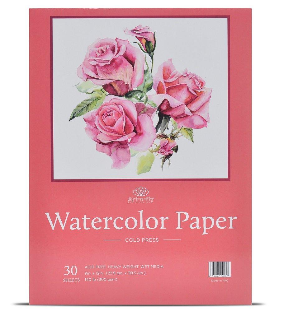 30 Sheets 9 X 12 Watercolor Paper