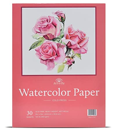 Amazon 30 Sheets 9 X 12 Watercolor Paper 140lb300gsm Fold