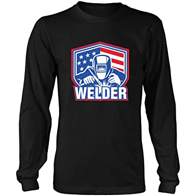 0d4be235 Amazon.com: Welder Ideas for Welding Mens-Funny Weld Work Hus Long Sleeve T- Shirt: Clothing