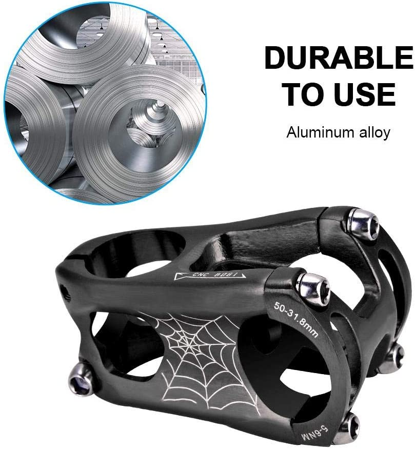 Alomejor 318 50mm Fahrrad Lenker Vorbau aus Hochfeste Aluminiumlegierung fü...