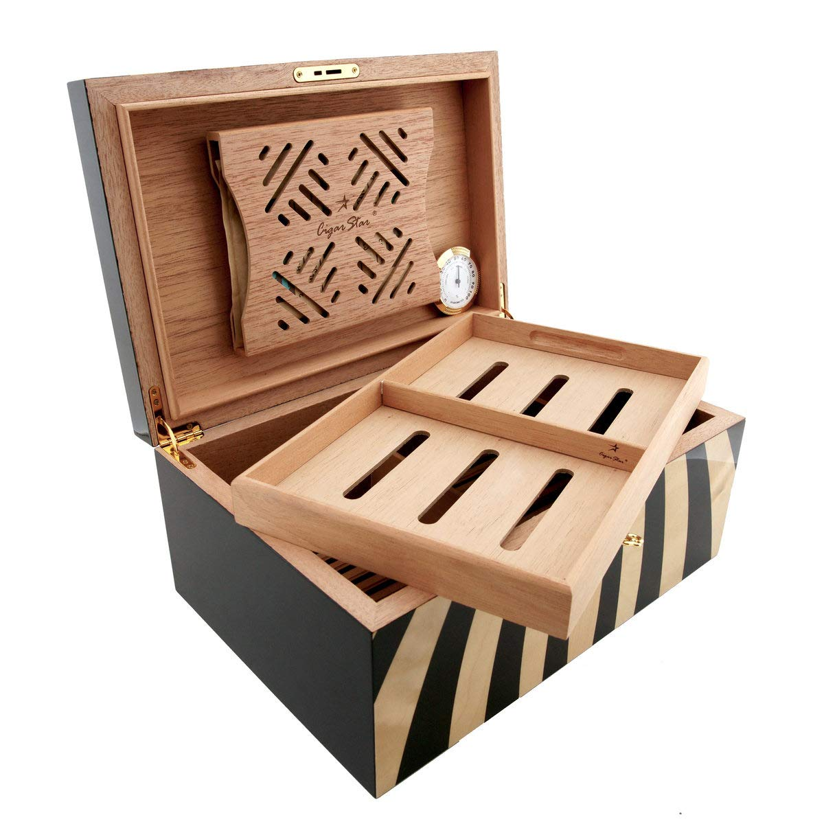 Cigar Star Boketto Humidor Limited Edition Optical Illusion Made from Wood! by Cigar Star (Image #5)